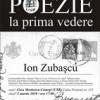 Ion Zubaşcu citeşte la POEZIE LA PRIMA VEDERE