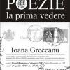 POEZIE LA PRIMA VEDERE cu Ioana Greceanu