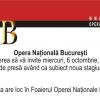 Se deschide noua stagiune a Operei Naţionale Bucureşti