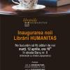 Evenimente multidisciplinare cu ocazia deschiderii celei de-a treia librării Humanitas din Iaşi