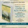 """Dezbatere """"Umberto Saba în poezia secolului XX"""", în cadrul Serilor italiene, la Librăria Humanitas Kretzulesu"""