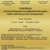 """Conferinţa """"Procesul terapeutic la confluenţa între lumea trăită a clientului şi cea a terapeutului"""", susţinută de psihoterapeuţi din Brazilia, la Sinaia şi Bucureşti"""