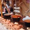 Ceardaş şi gulaş gătit în aer liber la Muzeul Astra, din Sibiu