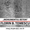 """Florin B. Tomescu expune în Piața Presei Libere instalația """"Monumentul beton"""""""