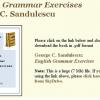 """""""Exerciţii de gramatică engleză"""" de C. George Săndulescu, ediţie în facsimil"""