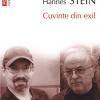 """""""Cuvinte din exil"""": convorbiri incitante între Norman Manea şi Hannes Stein"""