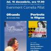 """""""Ofrande"""" de Cornelia Pillat şi audiobook-ul """"Portrete în filigran"""", lansate la  Humanitas Kretzulescu"""