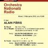 Dirijorul Alain Pâris, pentru prima dată la pupitrul Orchestrei Naţionale Radio