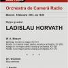 Dirijorul Ladislau Horvath, la Sala Radio din Bucureşti
