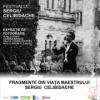 """""""Fragmente din viaţa maestrului Sergiu Celibidache"""", expoziție de fotografie pe lemn"""