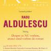 Scriitorul Radu Aldulescu, invitat la Clubul de proză al ASB