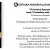 """""""Testament. Antologie de poezie română modernă"""", coordonator prof. Daniel Ioniţă"""