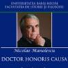 Nicolae Manolescu, Doctor honoris causa  al Universităţii Babeş-Bolyai