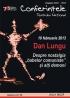 Dan Lungu, invitat la Conferinţele TNB