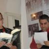 Ioana Crăciunescu și Dan Mircea Cipariu citesc poezie în cetatea Sighișoarei