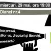Dezbatere despre libertatea presei, la Dianei 4