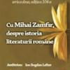 """Reputatul critic şi istoric literar, eseist şi romancier Mihai Zamfir, la """"Cafeneaua critică"""""""