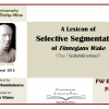 "A apărut ""A Lexicon of Selective Segmentation of Finnegans Wake (The 'Syllabifications')"""