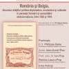 Lansare de carte despre relaţiile româno-belgiene, la USR Cluj