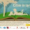 """""""Citim în iarbă"""", în Herăstrău, pe 28 septembrie"""