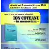 """""""Ion Coteanu – in memoriam"""" va fi lansată la Facultatea de Litere"""