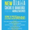 """Teatrul Excelsior lansează """"New drama"""", concurs de dramaturgie pentru adolescenți"""
