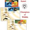 Campionii faunei ilustrați pe primele timbre românești ale anului 2015