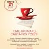 Adenium vă invită la poezie și cafea, cu Emil Brumaru de Ziua Internațională a Poeziei