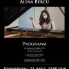 Pianista Alina Bercu, în recital la Institutul Cultural Român de la Viena