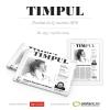 Noul număr al revistei de cultură contemporană TIMPUL, nr. 193, din aprilie 2015