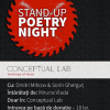Stand-up Poetry Night, în Conceptual Lab