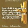 """Despre """"Noaptea albă a galeriilor"""" 2015 şi despre artele vizuale româneşti de azi,  la Cafeneaua critică"""