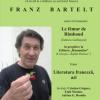 """Scriitorul francez Franz Bartelt, laureat al Premiului Goncourt, la Biblioteca Judeţeană """"G. T. Kirileanu"""""""