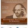 """Universitatea din București lansează proiectul """"R.A.R.- Recuperarea Anglisticii în România"""""""