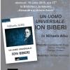 """Lansare de carte: """"Un uomo universale: Ion Biberi"""" de Mihaela Albu"""