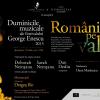 Compozitorul Dan Dediu și violonistele Sarah și Deborah Nemțanu, la Duminicile Muzicale ale Festivalului Enescu