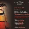 """""""Tangou pentru Lisandra"""", în dezbatere la Librăria Humanitas de la Cișmigiu"""