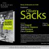 Eveniment Oliver Sacks, la Librăria Humanitas de la Cişmigiu