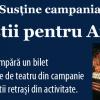 """Start Campania Naţională """"Artiştii pentru artişti"""""""