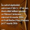 Scriitorul Mircea Cărtărescu şi arhitectul Emil Barbu (Mac) Popescu, la Cafeneaua critică