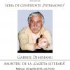 """Gabriel Dimisianu, invitat la seria de conferințe """"Patrimoniu"""""""