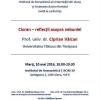 """Conferință """"Cioran – reflecții asupra nebuniei"""""""