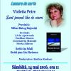 """Violetta Petre lansează volumul  de poezie """"Sunt poemul tău de vineri"""", la Iași"""