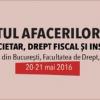 """Cea de-a XII-a ediție a Conferinţei """"Dreptului Afacerilor – Drept societar, drept  fiscal și insolvența"""""""