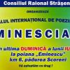 """Festivalul Internaţional de Muzica şi Poezie """"Eminesciana""""- ediţia a XXX-a"""