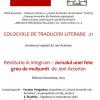 """Colocviile de traduceri literare 21 – Restitutio in integrum – """"Jurnalul unei fete greu de mulțumit"""" de Jeni Acterian"""