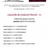 """Colocviile de Traduceri Literare 22 –"""" blând biciuieşte boarea poezia până la frumuseţe"""""""