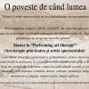 """Master """"Art-terapie prin teatru și artele spectacolului"""", la UNATC"""