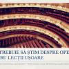 Lecții despre operă, cu Marius Constantinescu