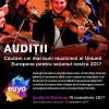 Preselecție pentru Orchestra de Tineret a Uniunii Europene (EUYO), la București